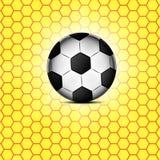 Soccer ball icon, flat design. Stock Photo