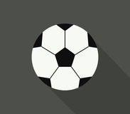 Soccer ball icon illustrated Royalty Free Stock Photography