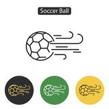 Soccer ball icon or sign. Royalty Free Stock Photography
