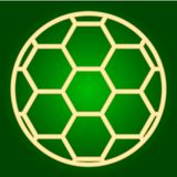 Soccer ball icon. Thin lines. Stock Images