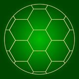 Soccer ball icon. Thin lines. Stock Photo