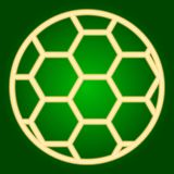 Soccer ball icon. Thin lines. Royalty Free Stock Photo