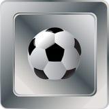 Soccer ball icon Stock Photography