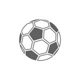 Soccer ball icon. On white background Royalty Free Stock Images