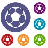 Soccer ball icons set Stock Image