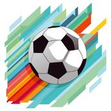 Soccer ball. An illustrated soccer ball on a colorful background Royalty Free Stock Photo
