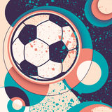 Soccer ball illustration. Soccer ball illustration with abstraction royalty free illustration
