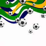 Soccer Ball. Illustration of a Background with Soccer Balls Stock Image