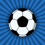 Soccer Ball Illustration On Blue Background. Soccer ball on a blue background; Football ball illustration Royalty Free Stock Photography