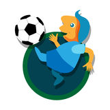 Soccer with Ball Royalty Free Stock Image