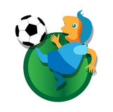 Soccer with Ball Royalty Free Stock Photo