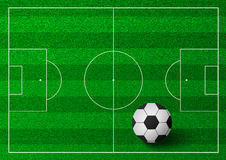 Soccer ball illustration on green grass Stock Photos