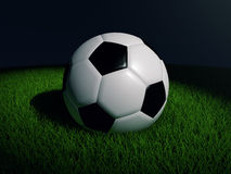 Soccer Ball. Illustration of a soccer ball lying on the grass Royalty Free Stock Images