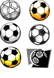Soccer Ball Images. Assorted Illustrated Soccer Ball Images Stock Photo