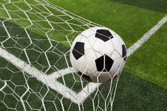 Free Soccer Ball In Goal Royalty Free Stock Image - 56512206