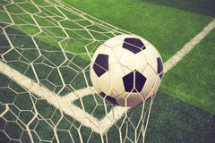 Free Soccer Ball In Goal Stock Image - 56512451