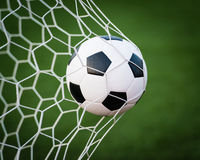 Free Soccer Ball In Goal Net Stock Photography - 28512282
