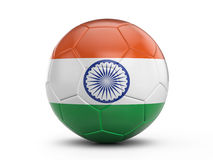 Soccer ball India flag Stock Photography