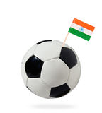 Soccer ball with indian flag Stock Photography