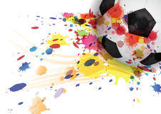 Soccer ball ink splash design Royalty Free Stock Image