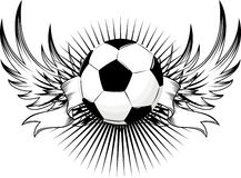 Soccer ball insignia Royalty Free Stock Photography