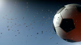 Soccer ball intro stock footage