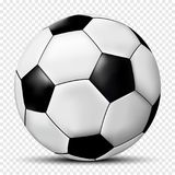 Soccer ball isolated on transparent background with shadow Royalty Free Stock Images