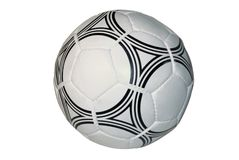 Soccer ball, isolated on a white background Royalty Free Stock Image