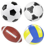 Soccer ball isolated on white background. Royalty Free Stock Image