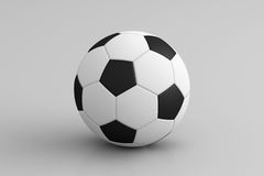 Soccer Ball Isolated on White, 3D Rendering Stock Photo