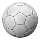 Soccer Ball Isolated on White. White Football Soccer Ball Isolated on White Background. Clipping Path Included Royalty Free Stock Photo