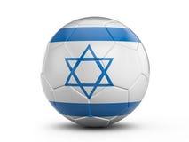 Soccer ball Israel flag Royalty Free Stock Photography