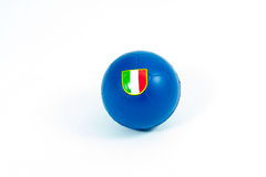 Soccer ball with Italian flag Stock Photography