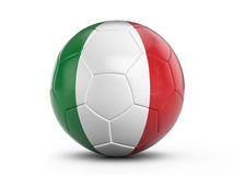 Soccer ball Italy flag Stock Images