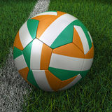 Soccer Ball with Ivory Coast Flag Stock Image
