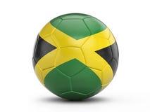 Soccer ball Jamaica flag Stock Photography