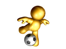 Soccer ball kick Royalty Free Stock Photo