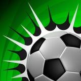 Soccer ball kick Stock Photography