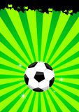 Soccer ball layout Royalty Free Stock Image