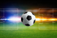 Soccer ball and layout Royalty Free Stock Photos