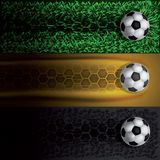 Track the soccer ball royalty free illustration