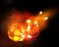 Soccer ball light banner. Easy all editable Royalty Free Stock Image