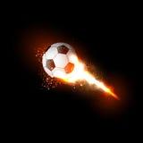 Soccer ball light design Stock Photography