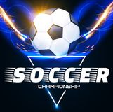 Soccer Ball with Light Effects. Football Power Design. Vector illustration Stock Photography