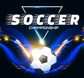 Soccer Ball with Light Effects. Football Power Design. Vector illustration Stock Image