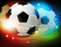 Soccer ball with lights and sparks Royalty Free Stock Photos