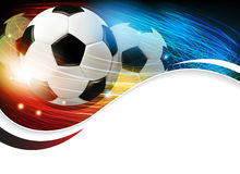 Soccer ball with lights and sparks Royalty Free Stock Photography