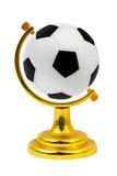 Soccer ball like a globe Royalty Free Stock Photography