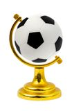Soccer ball like a globe Royalty Free Stock Image
