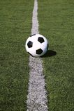 Soccer ball on line Royalty Free Stock Images